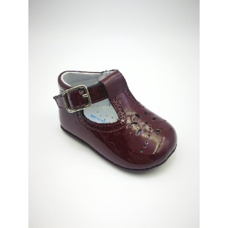 patent leather with buckle