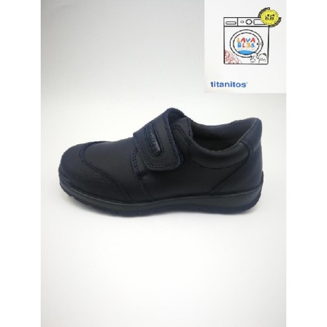 Titanitos school shoe washable with reinforcement