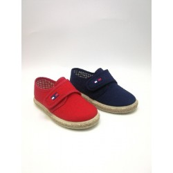 Velcro canvas blucher