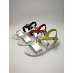 bicolor cross sandal