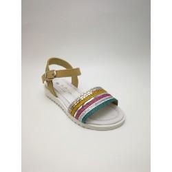multicolour braided sandal