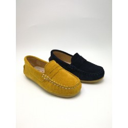 Suede leather mask moccasin