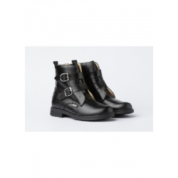 Double buckle military boot